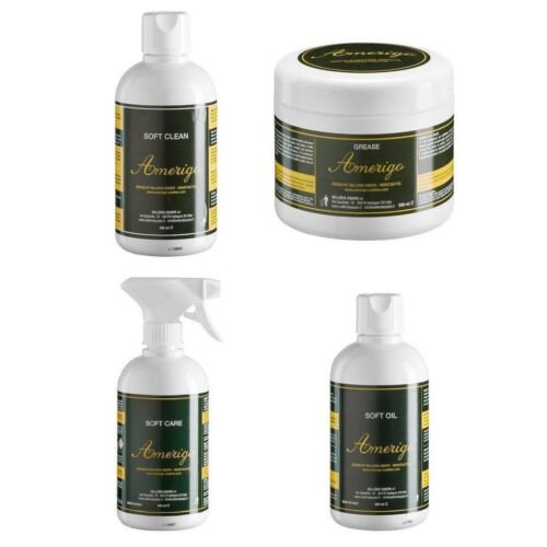 Care Amerigo Leather Care: Soft Clean or Complete Care Kit Grease Oil 500ml