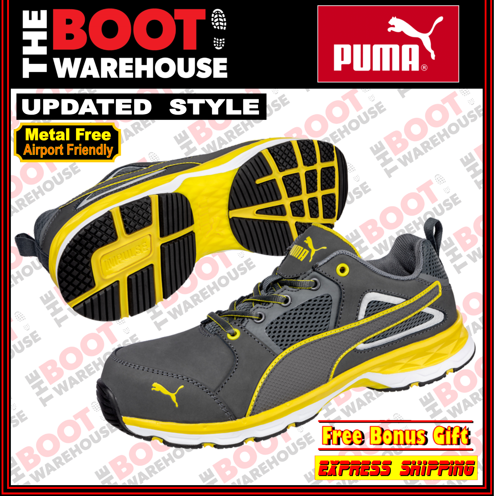 Puma 'PACE 2' 643807 Safety Composite Toe Cap Light Weight Work Jogger   shoes