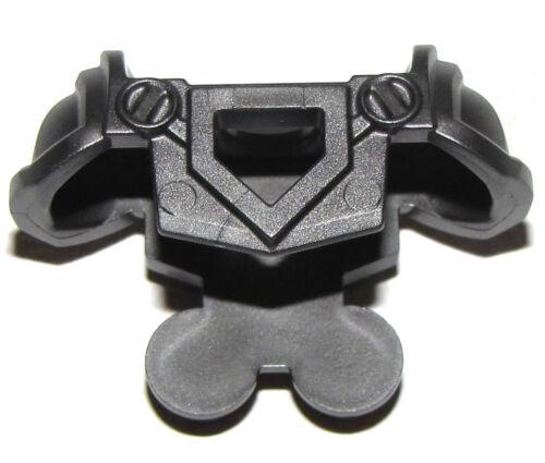 LEGO NEW PEARL DARK GREY MINIFIGURE ARMOR BREASTPLATE CASTLE PENTAGONAL CUTOUT