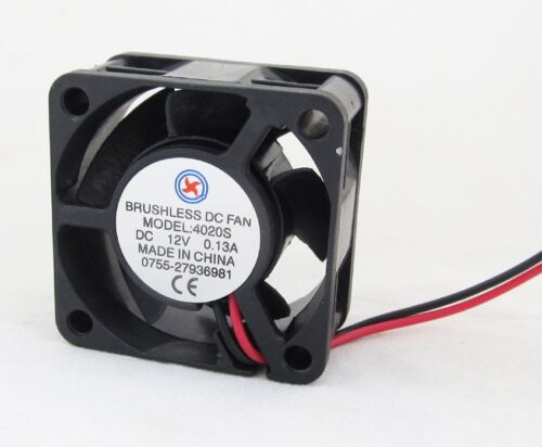1pcs Brushless DC Cooling Fan 40x40x20mm 4020 5 blades 12V 2pin 2.54 Connector