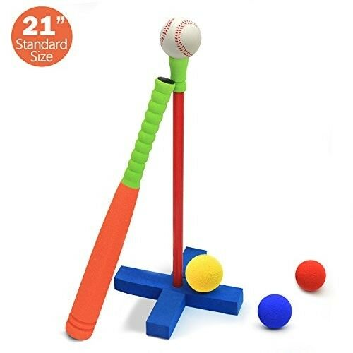 Kids T Set Ball Baseball Play Set T Toddler Soft Foam 21