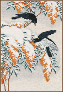 Counted-Cross-Stitch-Kit-OVEN-Flycatchers-in-the-snow