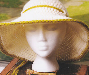 66bd43cdc13 Image is loading Crochet-Pattern-LADIES-SOPHISTICATED-SUMMER-CLOCHE-Hat- Instructions