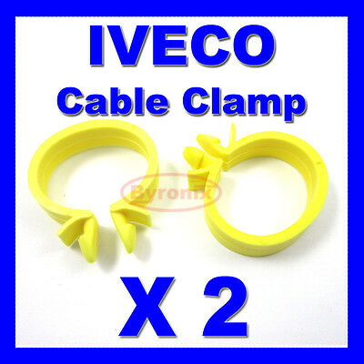 IVECO CABLE PIPE CLAMP WIRES WIRING LOOM HARNESS CLIP HOLDER 22mm X 18mm