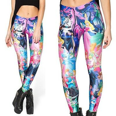 Disney Princess/'s Polyester Spandex Yoga Pants//Leggings OSFM Adults Ankle Length