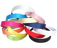 SATIN HEADBANDS WIDE SATIN ALICE BAND GIRLS 2.5cm HEAD BAND WIDE WOMENS BAND UK