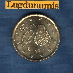 Espagne 2011 20 Centimes D'Euro SUP SPL Pièce neuve de rouleau - Spain