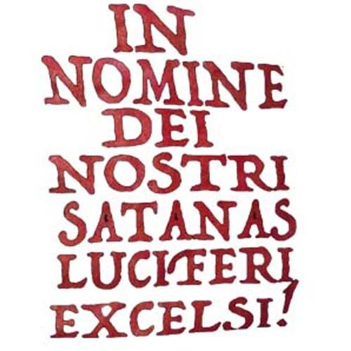Small to 2 Extra large size Seal of lucifer//leviathan/'s crosses in nomine dei..