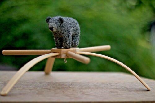 Baby mobile hanger 6 arms Wooden frame Crib mobile holder Natural Eco Handmade