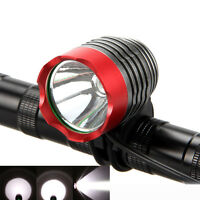 New DC 1000Lm XM-L T6 LED Head Front Bicycle Bike Headlamp Flashlight Lamp