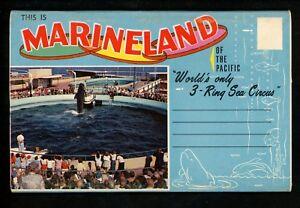 Postcard-Folder-California-CA-Palos-Verdes-Peninsula-Marineland-Sea-Circus-Seals
