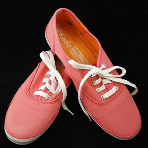 d29eac81354 Image is loading Keds-Champion-Canvas-Originals -Style-WF49815-Coral-Sneakers-