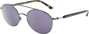 Giorgio-Armani-Men-039-s-Mirrored-AR6038-300376-50-Grey-Oval-Sunglasses