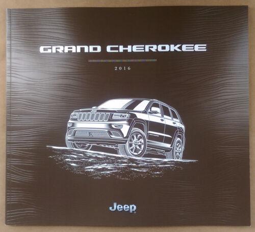 2016 Jeep Grand Cherokee 56-page Original Sales Brochure
