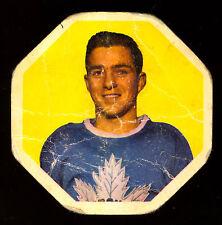 1961-62 YORK PEANUT BUTTER YELLOW BACKS #2 DICK DUFF VG TORONTO MAPLE LEAFS
