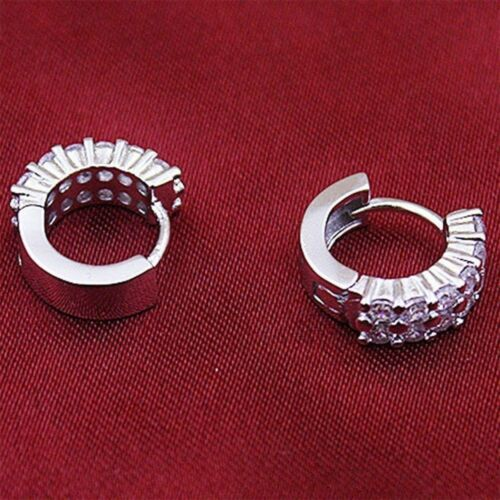 1 Pair Women Fashion Sliver Crystal Rhinestones Lady Jewelry Earrings Gifts