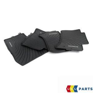 NEW-Genuine-Porsche-Cayenne-11-14-Avant-et-arriere-en-caoutchouc-noir-Tapis-De-Sol-LHD
