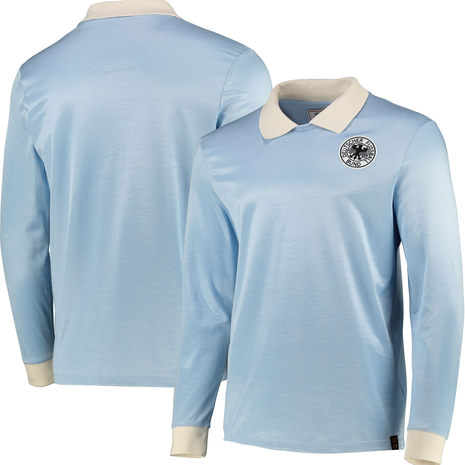 DFB True Classics 1974 Retro Goalkeeper Summer T-Shirt Shirt Blue - Mens