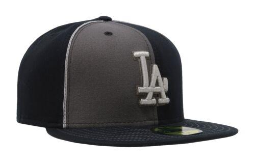New Era 59Fifty Hat MLB Los Angeles Dodgers Mens Adults Black Charcoal 5950 Cap