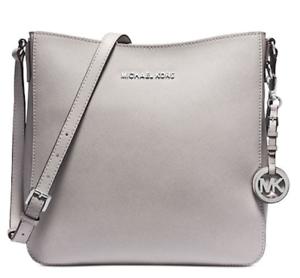 6741bbdc095c63 🌺🌹 Michael Kors Jet Set Travel Large Saffiano Messenger Bag Pearl ...