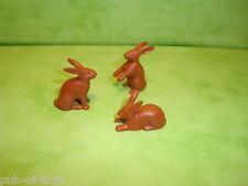 Playmobil : Lot de 3 lapins playmobil / rabbit