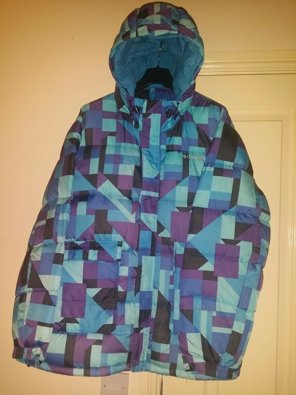 Herren Padded Columbia Coat In Blau Größe XL