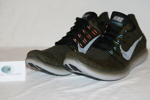 best service 91aed 56d6e Image is loading Mens-Nike-Free-RN-Flyknit-Running-Shoes-Cargo-