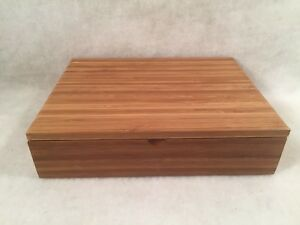 Tea-of-Life-Wooden-Box-w-6-Inner-Sections-Hinged-Lid