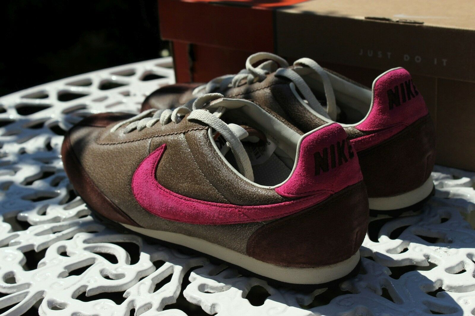 HTF RARE Nike Oregon Waffle Vintage Leather UK8 EU42.5 US9 27CM Bison PunchChoc.