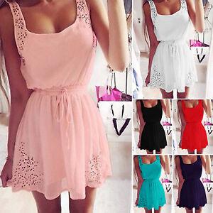 Casual-Womens-Sleeveless-Summer-Party-Evening-Skater-Dress-Mini-Beach-Sundress