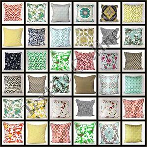 Elegante-cuscino-copre-20-x-20-Bella-Lussuoso-100-COTONE-FEDERA-50-cm