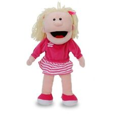 Tellatale White Girl Hand Glove Puppet With Moving Mouth By Fiesta Crafts