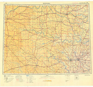 Russian Soviet Military Topographic Maps -sheet OKLAHOMA CITY (USA ...