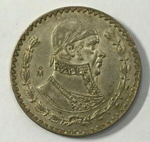 Mexico: 1958 One Peso - Silver Circulated condition Fine (16-117)