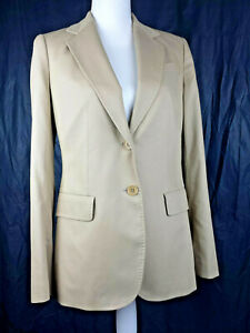 Talbots-Blazer-Jacket-Light-Brown-Career-NWT-169-Grace-Fit-Size-6-Two-Button