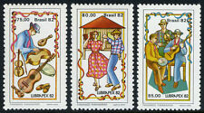 Brazil 1820-1822, MNH. Musical Instruments, Dancers, Musicians, 1982