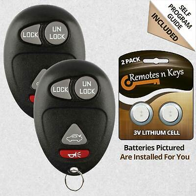 2 Car Key Fob Remote Red For 2002 2003 2004 2005 2006 2007 Buick Rendezvous