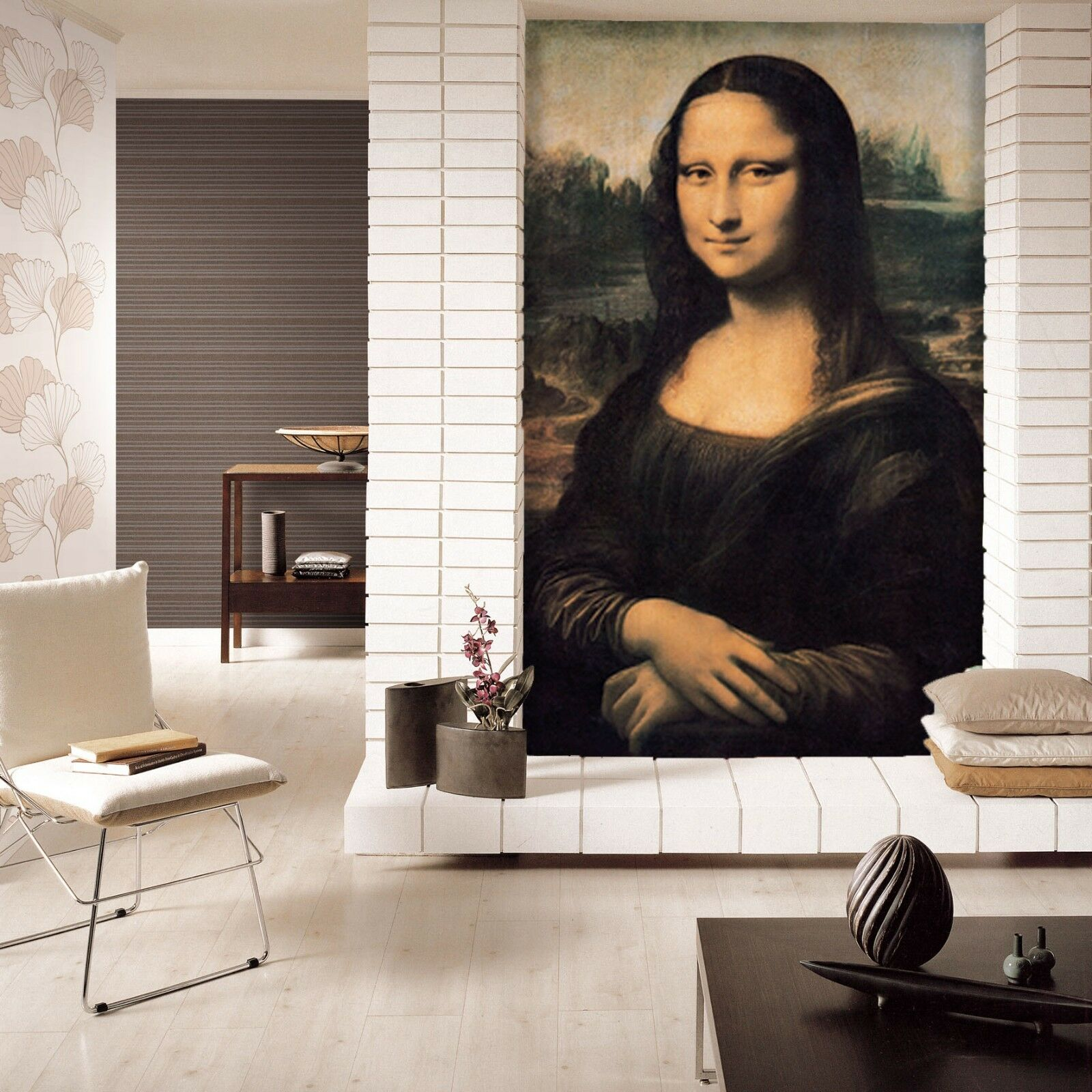 3D Mona Lisa 10233 Wall Paper Wall Print Decal Wall Deco AJ WALLPAPER