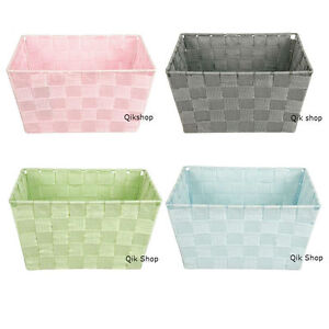 Attractive Image Is Loading Wide Weave Woven Storage Box Basket Tubs Tray