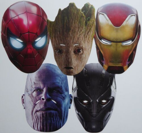 Marvel Avengers Infinity War Character Face Masks Great for Kids and Parties