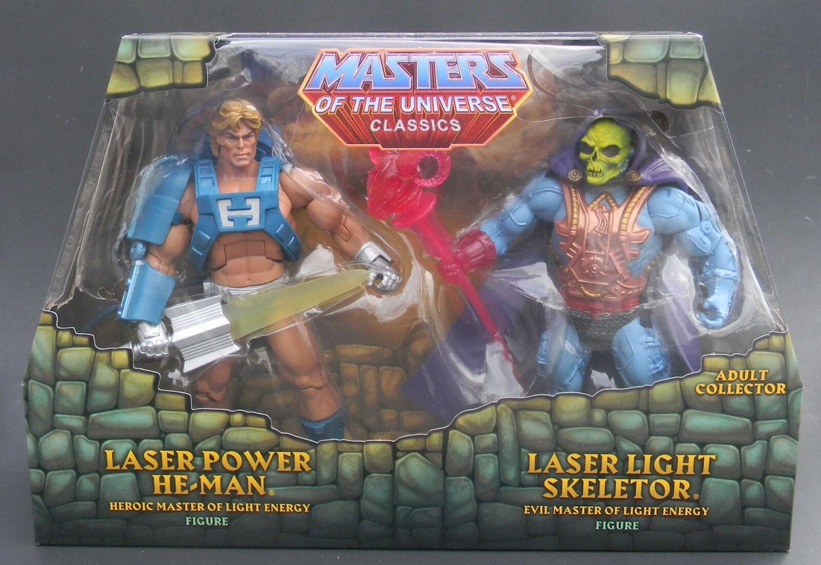 Masters of the Universe Classics MOTUC Laser Power Power Power He-Man v Laser Light Skeletor 002183