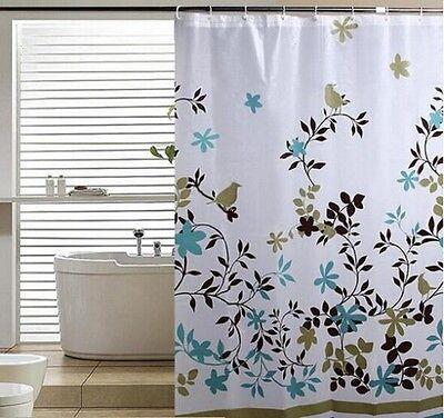 Bathroom Curtain Bath Curtain Waterproof Water Floral Shower Curtain 70.9 inch S