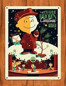 image is loading tin sign 034 a charlie brown christmas 034 - Peanuts Christmas Movie