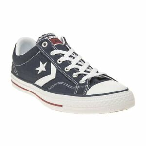 Details about New MENS CONVERSE NAVY STAR PLAYER PREMIUM LEATHER OX TEXTILE Sneakers PLIMSOLLS