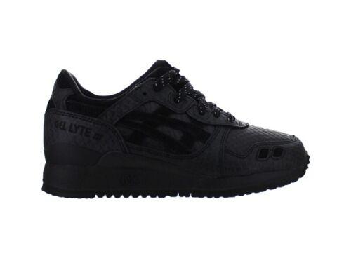 Mens Asics Gel Lyte III Leather Black Black Black Black Black H52EK 9090 Sizes  _8.5_9 ef831c