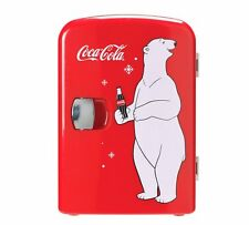 Coke Mini Fridge With Bear Classic, Must-Have Accessory, Perfect For Coca Cola
