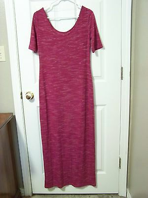 Womens Mossimo Supply Company Long Dress Small Pink with White Specks