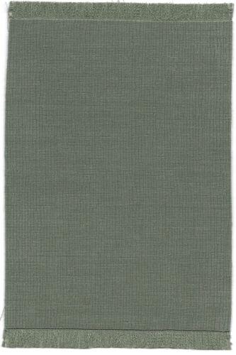 "Dollhouse mini 1:12 handcrafted self fringed rug soft gray//aqua  5 3//4/"" x 9/"""