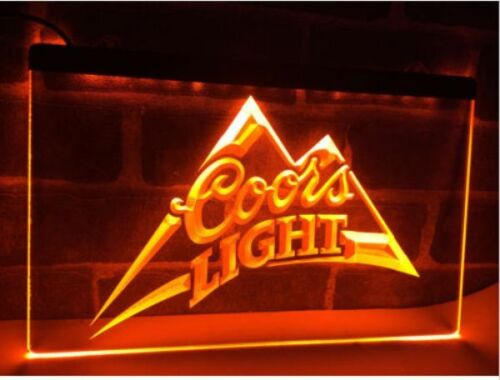 Coors Light Lite Beer LED Neon Light Sign Plate Flag Bar Club Pub Drink Gift