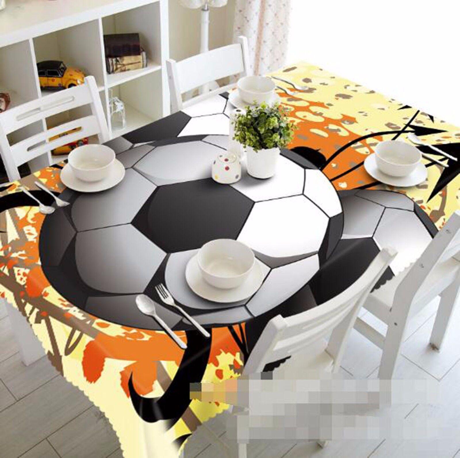 3D FOOTBALL 50 Nappe Table Cover Cloth fête d'anniversaire AJ papier peint Royaume-Uni Citron